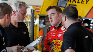 Matt Borland talks with Ty Dillon and the No. 3 XFINITY Series team at Phoenix International Raceway.