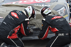 Austin Dillon NASCAR Damaged Car Repair Talladega
