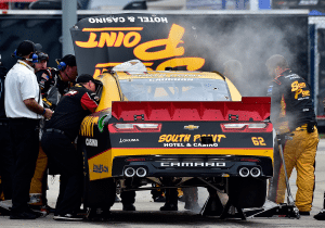 Brendan Gaughan Damaged Car Kansas