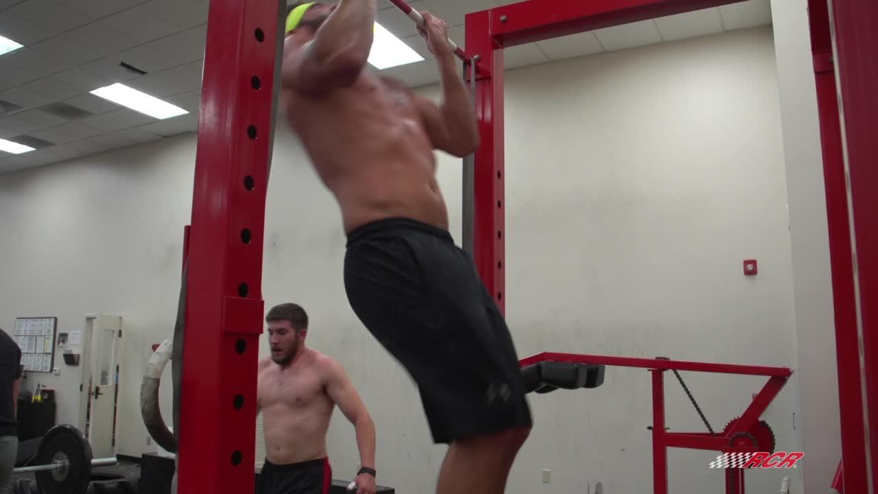 Austin Dillon and crew do CrossFit's Badger