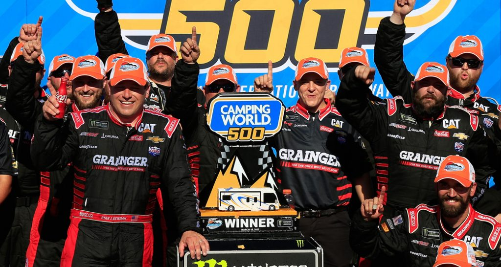 No. 31 team in Victory Lane at Phoenix Raceway