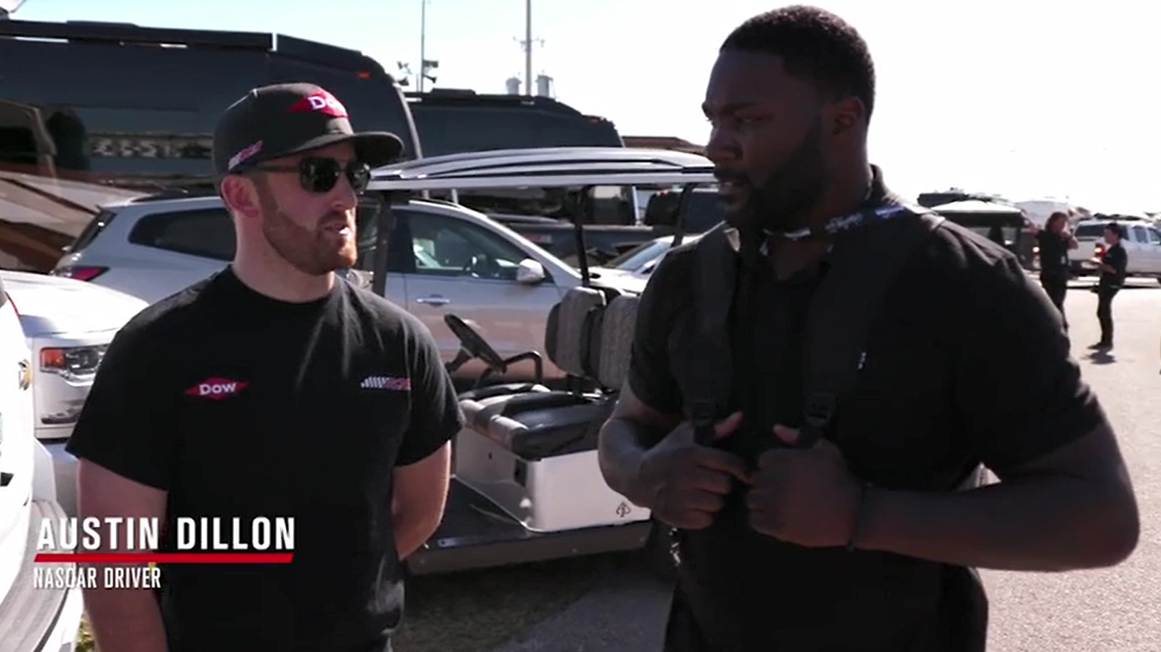 Austin Dillon Gives UFC's Anthony 'Rumble' Johnson NASCAR Experience