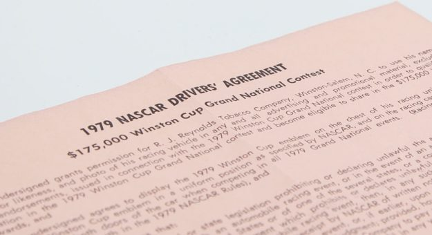 1979 NASCAR drivers agreement