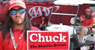 Outtakes: Austin Dillon as Chuck the AAA Shuttle Driver