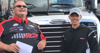 Brandon Jones Helps Park No. 33 Freightliner Hauler