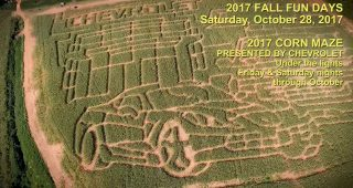 Ryan Newman Shows Off Team Chevy Corn Maze