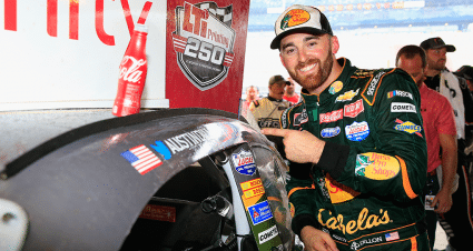 Austin Dillon Holds on for Rain-Shortened NXS Win