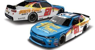 Hemric Honors Walker Evans with Darlington Throwback