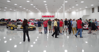 A group of active duty military members were able to see how the men and women at RCR design, build and develop the race cars that hit the track each and every week.