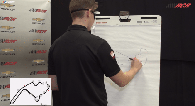 Matt Tifft and Daniel Hemric are featured in Drawing the Road Courses: Mid-Ohio.