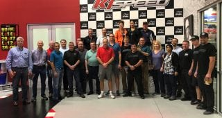 Matt Tifft Competes with Nexteer Automotive Engineers in Kart Race