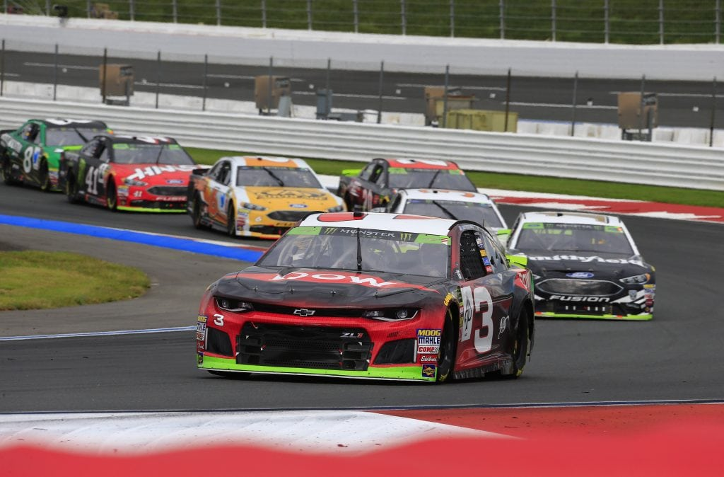 Austin Dillon had a solid run going during Sunday's NASCAR Playoffs race at the Charlotte Roval before two separate incidents sent him behind the wall early. (HHP/Jim Fluharty)