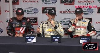 Tifft 'lucky' to save late spin at Dover