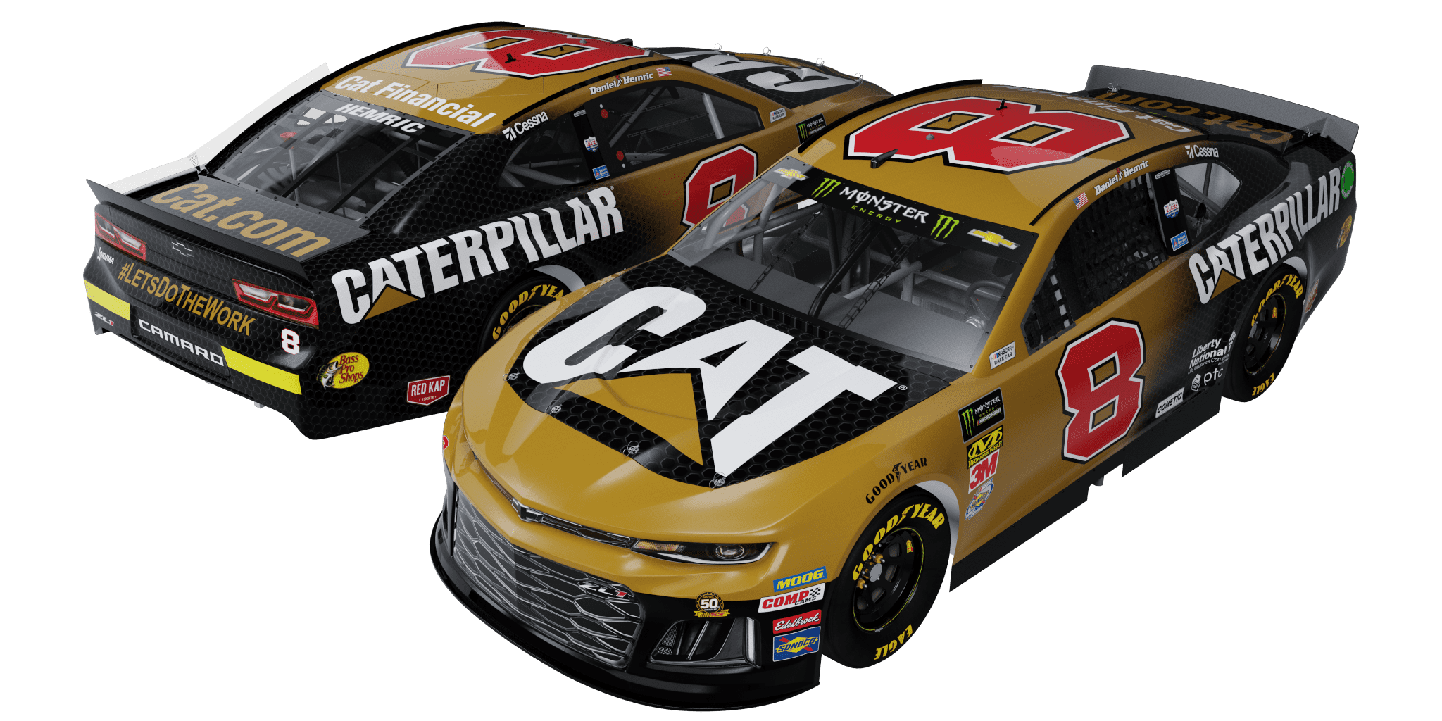 2019 Daniel Hemric Caterpillar 1:24 Scale Die-Cast