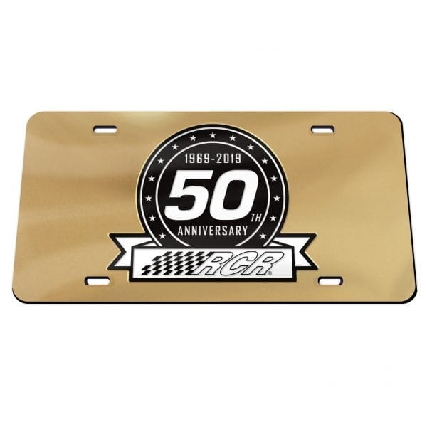 50th Anniversary Acrylic License Plate