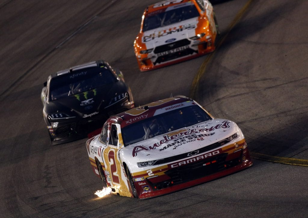 Tyler Reddick drove his No. 2 Anderson's Maple Syrup Chevrolet to a fourth-place finish at Richmond despite losing power steering during the race. (HHP/Andrew Coppley)