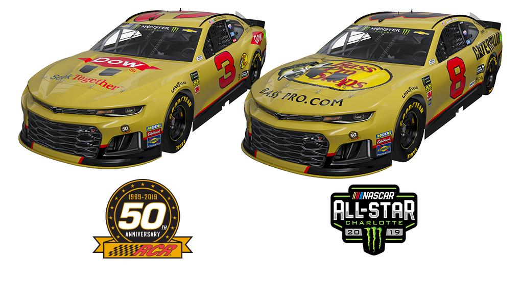 RCR Brings Back Gold-Colored Chevrolets for NASCAR All-Star Weekend