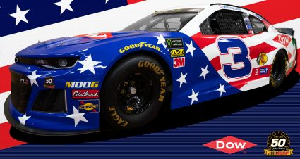 RCR and Dow Team Up to Honor Veterans with Patriotic No. 3 Dow Salutes Veterans Chevrolet at Michigan