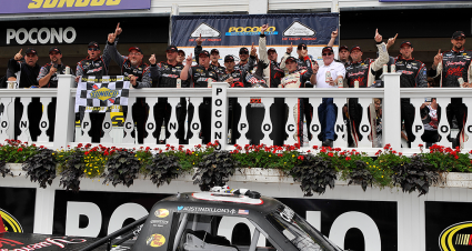 RCR 50 TBT: Nick Harrison Strategy Leads Dillon to Pocono Victory Lane