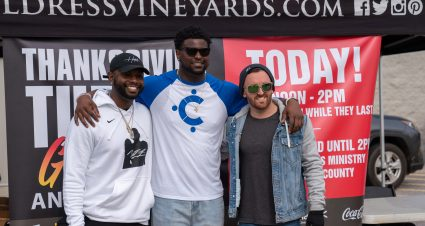 Dillon Teams up with Local Athletes for Turkey Giveaway