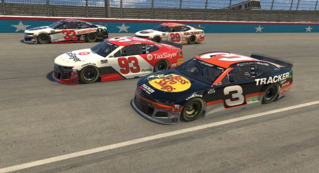 RCR Chevrolets at the Virtual Texas Motor Speedway
