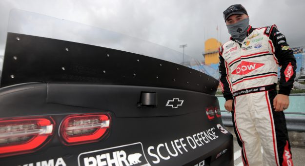 HOMESTEAD, FLORIDA - JUNE 14: Austin Dillon, driver of the #3 DOW/Behr Ultra Scuff Defense Chevrolet, stands on the grid prior to the NASCAR Cup Series Dixie Vodka 400 at Homestead-Miami Speedway on June 14, 2020 in Homestead, Florida. (Photo by Chris Graythen/Getty Images) | Getty Images