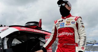 LONG POND, PENNSYLVANIA - JUNE 28:  Myatt Snider, driver of the #21 TaxSlayer Chevrolet, waits on the grid prior to the NASCAR Xfinity Series Pocono Green 225 Recycled by J.P. Mascaro & Sons at Pocono Raceway on June 28, 2020 in Long Pond, Pennsylvania. (Photo by Jared C. Tilton/Getty Images) | Getty Images