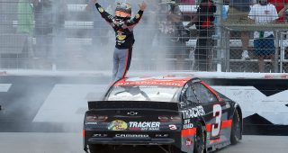 FORT WORTH, TEXAS - JULY 19: Austin Dillon, driver of the #3 Bass Pro Shops Chevrolet, celebrates winning the NASCAR Cup Series O'Reilly Auto Parts 500 at Texas Motor Speedway on July 19, 2020 in Fort Worth, Texas. (Photo by Chris Graythen/Getty Images) | Getty Images
