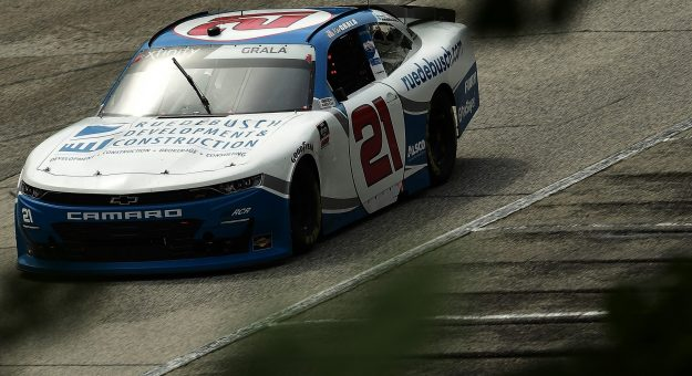 ELKHART LAKE, WISCONSIN - AUGUST 08:  Kaz Grala, driver of the #21 ruedebush.com Chevrolet, races during the NASCAR Xfinity Series Henry 180 at Road America on August 08, 2020 in Elkhart Lake, Wisconsin. (Photo by Stacy Revere/Getty Images)   Getty Images