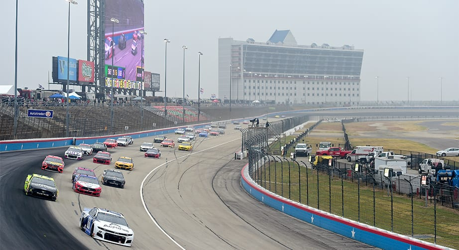 Cup Series Playoff Race at Texas Postponed to Monday Due to Wet Weather