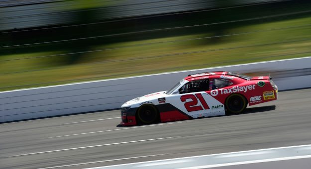 LONG POND, PENNSYLVANIA - JUNE 28:  Myatt Snider, driver of the #21 TaxSlayer Chevrolet, drives during the NASCAR Xfinity Series Pocono Green 225 Recycled by J.P. Mascaro & Sons at Pocono Raceway on June 28, 2020 in Long Pond, Pennsylvania. (Photo by Jared C. Tilton/Getty Images) | Getty Images